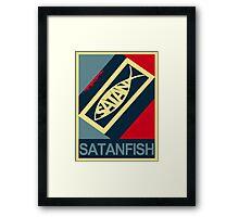 SATANFISH 1.0  Framed Print