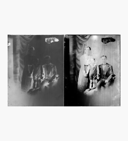 Glass negative family portrait Photographic Print