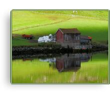 Serenity Fjord Reflections Canvas Print