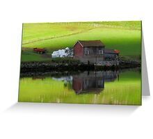 Serenity Fjord Reflections Greeting Card