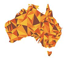 Abstract Australia Desert Rock by Travla Creative