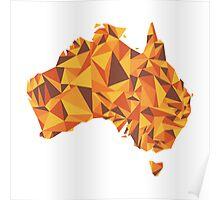 Abstract Australia Desert Rock Poster