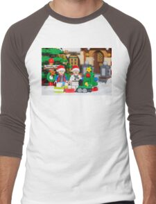 North Pole with Marty and Dov Men's Baseball ¾ T-Shirt