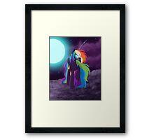 Nightmare Rainbow Dash Framed Print