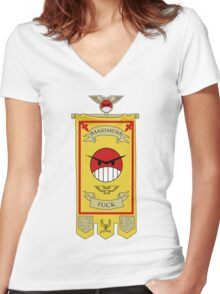 Angry Marines Women's Fitted V-Neck T-Shirt
