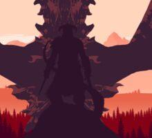 Alduin and the Dragonborn Sticker