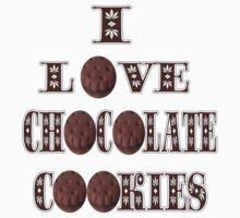 █ ♥ █ I LOVE CHOCOLATE COOKIES TEE SHIRT █ ♥ █  by ╰⊰✿ℒᵒᶹᵉ Bonita✿⊱╮ Lalonde✿⊱╮