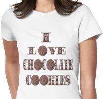 █ ♥ █ I LOVE CHOCOLATE COOKIES TEE SHIRT █ ♥ █  Womens Fitted T-Shirt