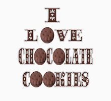█ ♥ █ I LOVE CHOCOLATE COOKIES TEE SHIRT █ ♥ █  Womens Fitted T-Shirt