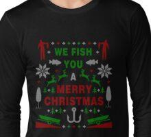 Fish Ugly Christmas Sweater Digital Art Long Sleeve T-Shirt