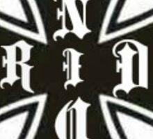 Iron cross Machinist union Sticker