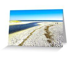 Quiet beach for a stroll Greeting Card