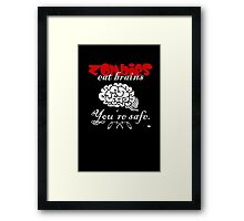 Zombies eat Brains Framed Print