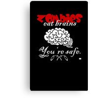 Zombies eat Brains VRS2 Canvas Print