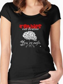 Zombies eat Brains VRS2 Women's Fitted Scoop T-Shirt