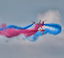 And Breeeak !!! Red Arrows - Dunsfold 2013 by Colin  Williams Photography