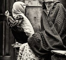 Old woman and child by Alan Robert Cooke