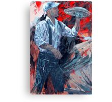 French Waiter Canvas Print