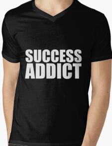 Success Addict Mens V-Neck T-Shirt
