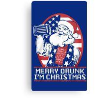 Merry Drunk I'm Christmas -Ugly Christmas- Santa Ugly christmas sweat Canvas Print