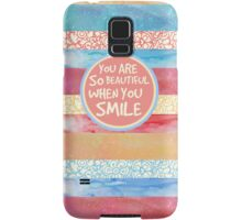 When You Smile Samsung Galaxy Case/Skin