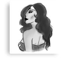 Wonder Woman Vintage Sketch Canvas Print