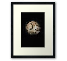 Antique Feel Photograph of an Eerie Clock Face Framed Print