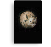 Antique Feel Photograph of an Eerie Clock Face Canvas Print