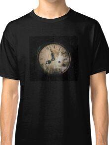 Antique Feel Photograph of an Eerie Clock Face Classic T-Shirt