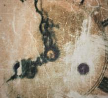 Antique Feel Photograph of an Eerie Clock Face Sticker