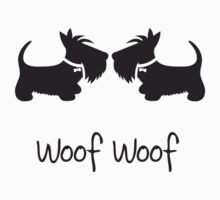 Double Scottie – Woof Woof by BonniePortraits