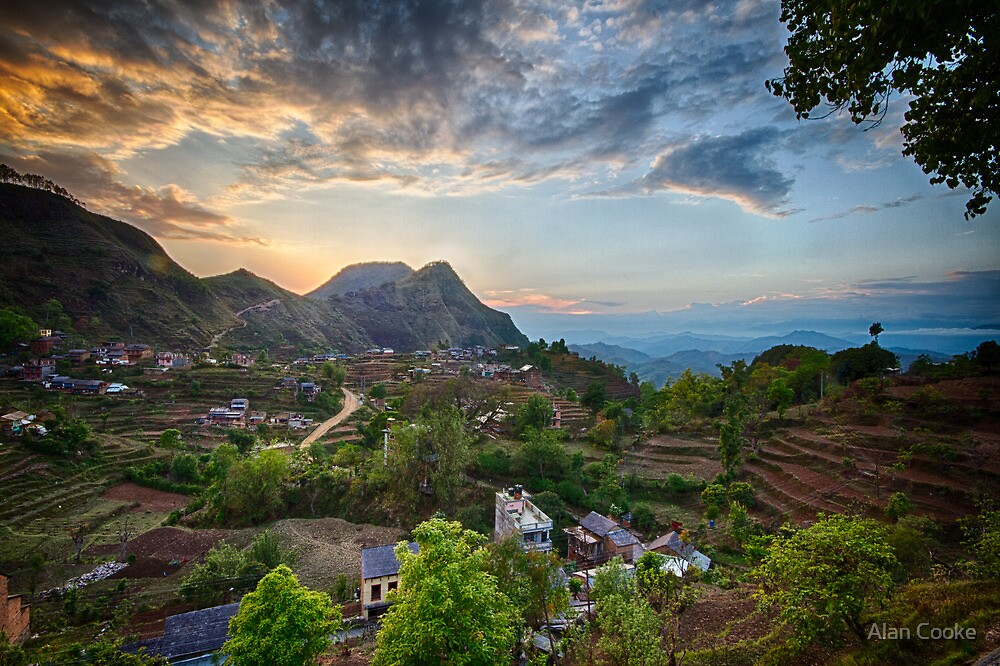 Bandipur valley by Alan Robert Cooke