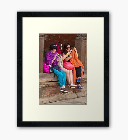 Nepalese youth Framed Print