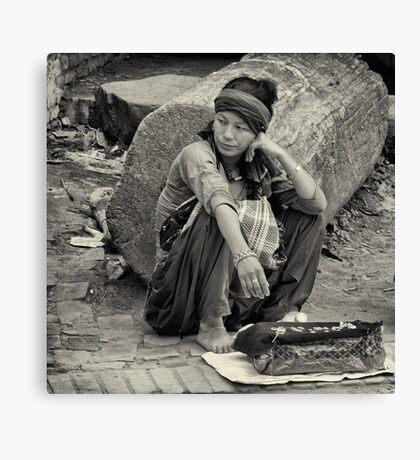 Street seller Canvas Print
