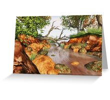 Colourful Woodland Stream Greeting Card