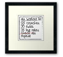 Abs Workout List Framed Print