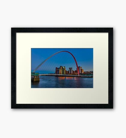 Gateshead Millennium Bridge Colours Framed Print