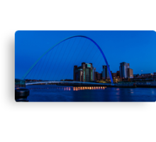 Gateshead Millennium Bridge Colours Canvas Print