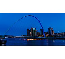 Gateshead Millennium Bridge Colours Photographic Print