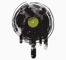 Green Melting Vinyl Records Vintage  Kids Clothes