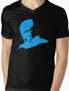Resident Evil - Zombie - Blue Mens V-Neck T-Shirt