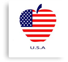American flag as a symbol of the apple Canvas Print