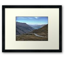 From the Crown Range Road. ( 4 ) Queenstown in the mist. Framed Print