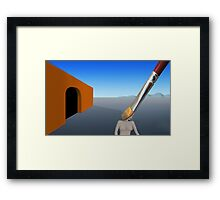 SURREALISM - Exiting The Four Walls Framed Print