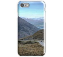 From the Crown Range Road. ( 4 ) Queenstown in the mist. iPhone Case/Skin