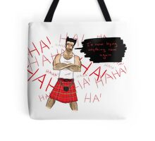 Wolverine in a Kilt Tote Bag