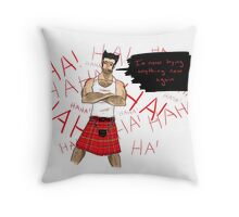 Wolverine in a Kilt Throw Pillow