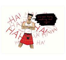 Wolverine in a Kilt Art Print