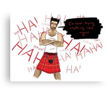 Wolverine in a Kilt Canvas Print