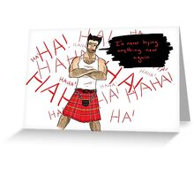 Wolverine in a Kilt Greeting Card